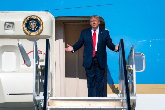 Trump arrives in Tulsa on June 20.