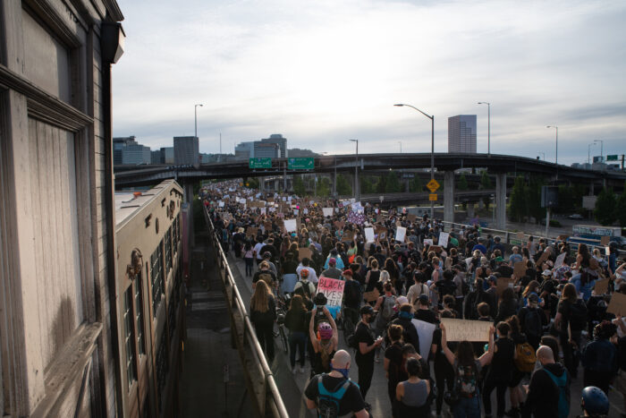 Black Lives Matter protest in Portland, Ore., on June 4, 2020 (Photo: Matthew Roth)